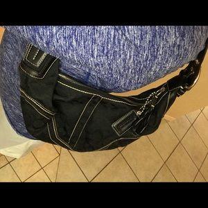 Coach Bags - Coach Signature Black Zip Up Shoulder Bag